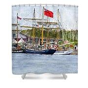 Tall Ships Festival Shower Curtain
