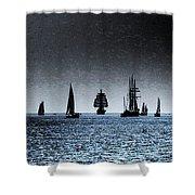 Tall Ships Halifax 2017 - Parade Of Sail Shower Curtain