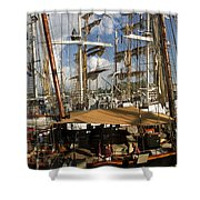 Tall Ships Heritage Landing Shower Curtain