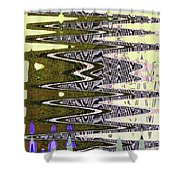Tall Tempe Building Abstract Shower Curtain