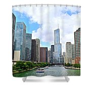 Tall Towers In Chicago Shower Curtain