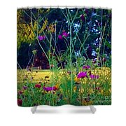 Tall Wisphy Flowers Of Pink Shower Curtain