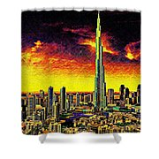 Tallest Building In The World Shower Curtain