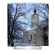 Tallin Church In Winter Shower Curtain