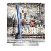Tallin Graffiti Station Shower Curtain