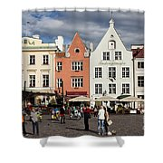 Tallinns Town Hall Square Shower Curtain