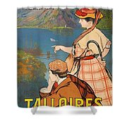 Talloires, France, Paris Lyon Mediterranean Shower Curtain