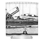 Talon Vs. Hornet Shower Curtain