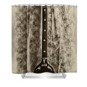 Tambura In Black And White Shower Curtain