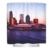 Tampa At Sunset Shower Curtain