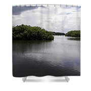 Tampa Bay Inlet  Shower Curtain