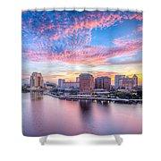 Tampa Bay Sunrise Shower Curtain