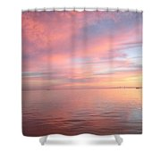 Skyway Sunset Shower Curtain