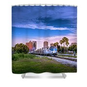 Tampa Departure Shower Curtain