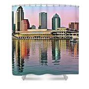 Tampa Elongated Shower Curtain