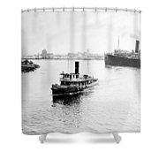 Tampa Florida - Harbor - C 1926 Shower Curtain