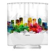 Tampa Florida Cityscape 12 Shower Curtain