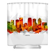Tampa Florida Cityscape 15 Shower Curtain