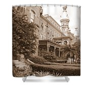Tampa Gem In Sepia Shower Curtain