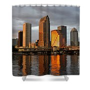 Tampa In Reflection Shower Curtain