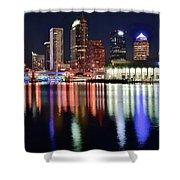 Tampa In Vivid Radiant Color Shower Curtain