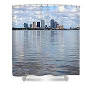 Tampa Skyline Over The Bay Shower Curtain