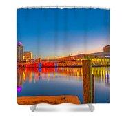 Tampa Sunrise Shower Curtain