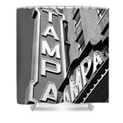Tampa Theatre Bw Shower Curtain