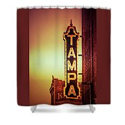 Tampa Theatre Shower Curtain by Carolyn Marshall