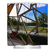 Tampa Through Art Shower Curtain