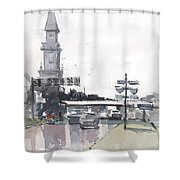 Tampa Tower At Hillsborough Intersection Shower Curtain