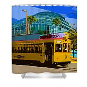 Tampa Trolley Shower Curtain
