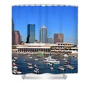 Tampa's Day Panoramic Shower Curtain