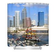 Tampa's Flag Ship Shower Curtain