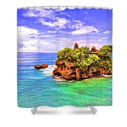 Tanah Lot Temple Bali Shower Curtain