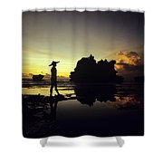 Tanah Lot Temple Shower Curtain