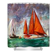 Tanbarque Rounds The Mark Shower Curtain
