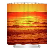 Tangerine Sunset Shower Curtain