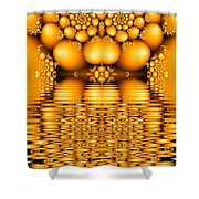 Tangerine Tears Shower Curtain