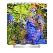 Tangerine Twist Mosaic Abstract Art Shower Curtain