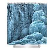 Tangle Falls Frozen In Blue Shower Curtain