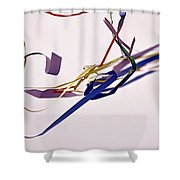 Tangled Ribbons Shower Curtain