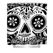Tangled Skull Shower Curtain