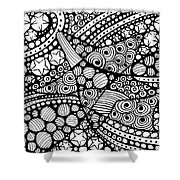 Tangled Stars  Shower Curtain