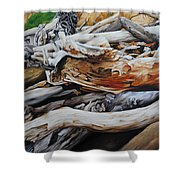 Tangled Timbers Shower Curtain