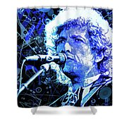 Tangled Up In Blue, Bob Dylan Shower Curtain