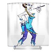Tango Woman - Fashion Illustration Shower Curtain