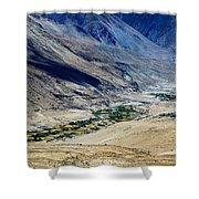 Tangsey Village Landscape Of Leh Ladakh Jammu And Kashmir India Shower Curtain