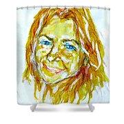 Tania Helft, Portrait Shower Curtain