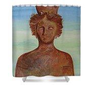 Tanit Mythical Godess Of Ibiza  Shower Curtain